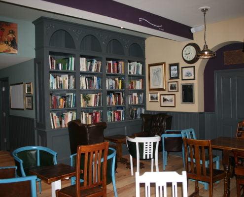 Evesham Electrical - Tailor made bookshelves, built in store.