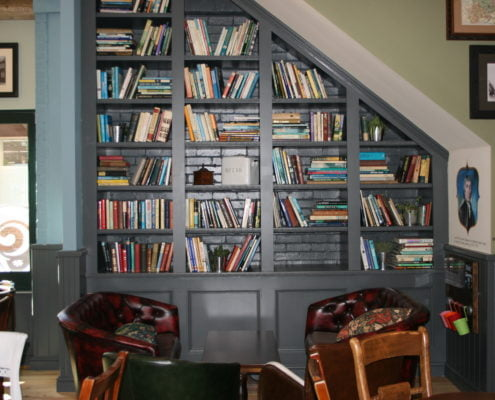Daventry Electrical Bookcases of all shapes and sizes, fitted perfectly to suit the space.