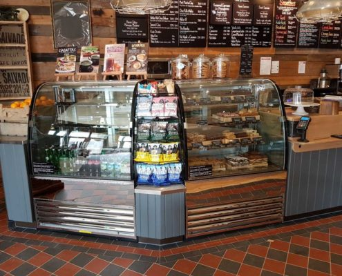 Leamington Spa Coffee #1 - The new counter, and tile floor.